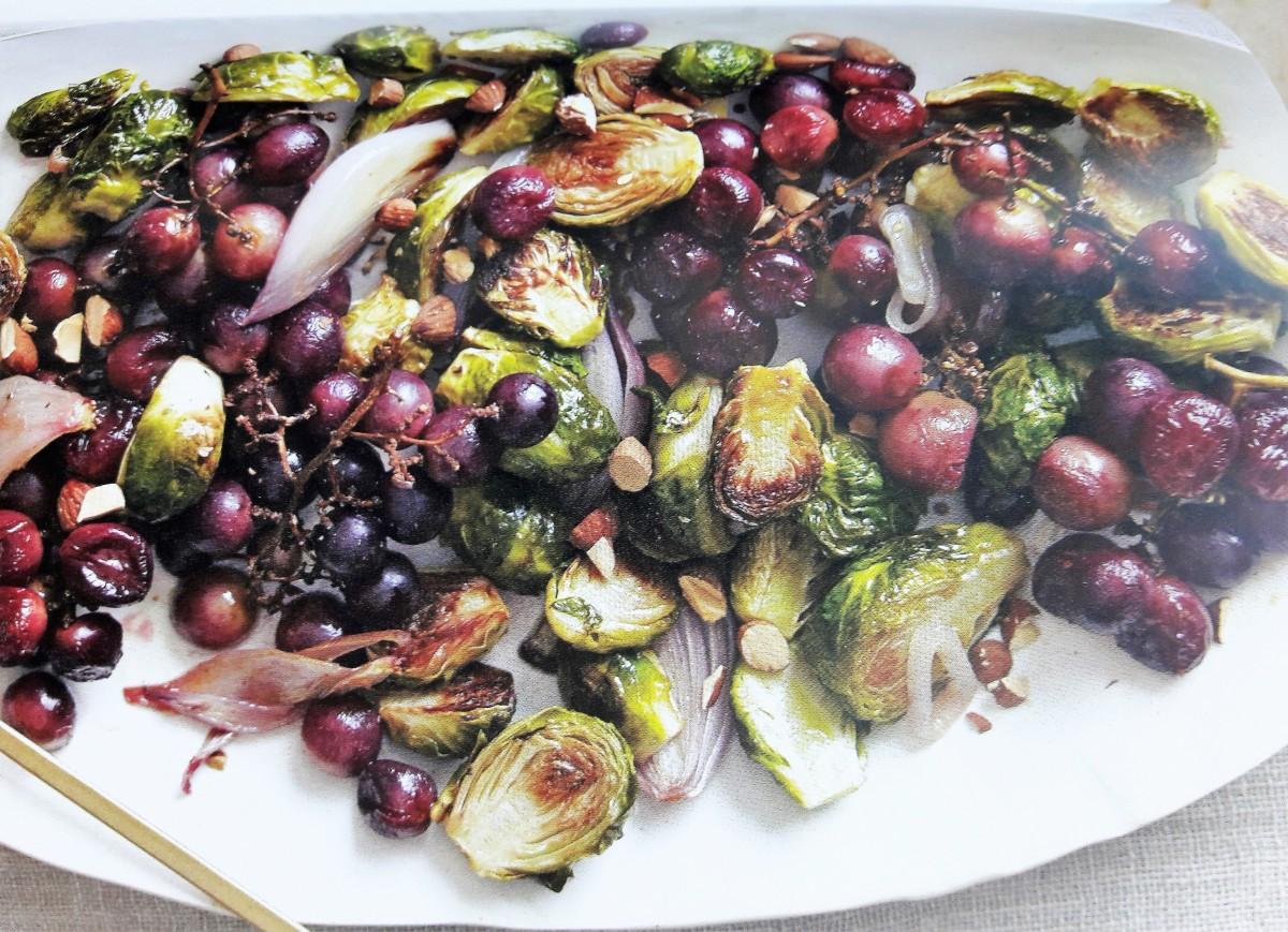 Couves-de-bruxelas e uvas, para uma ocasiãoespecial
